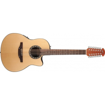 Ovation APPLAUSE AB2412-4 BALLADEER 12-STRING MID-CUTAWAY, NATURAL